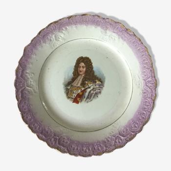 Assiette décorative Louis XIV