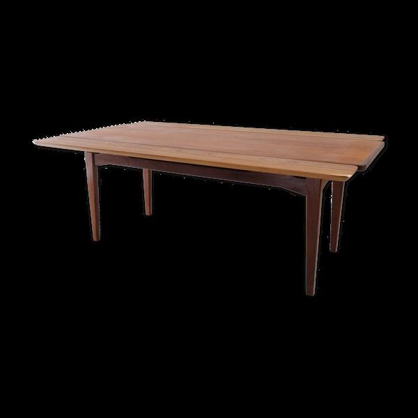 Table basse scandinave avec allonges, 1960