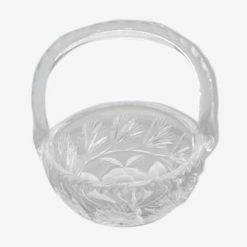 Cut crystal basket