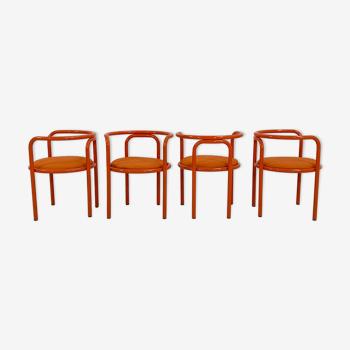 Lot de 4 chaises Locus Solus par Gae Aulenti pour Poltronova, 1960