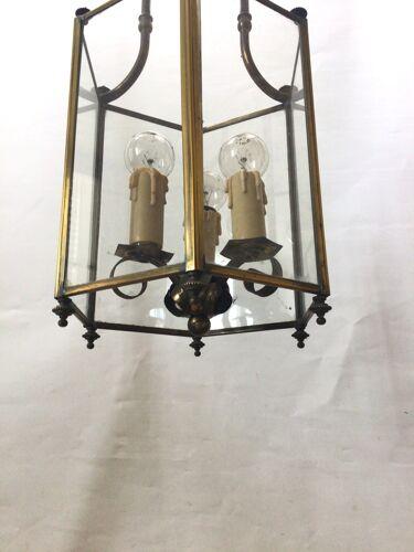 Lanterne en laiton ancienne 3 feux