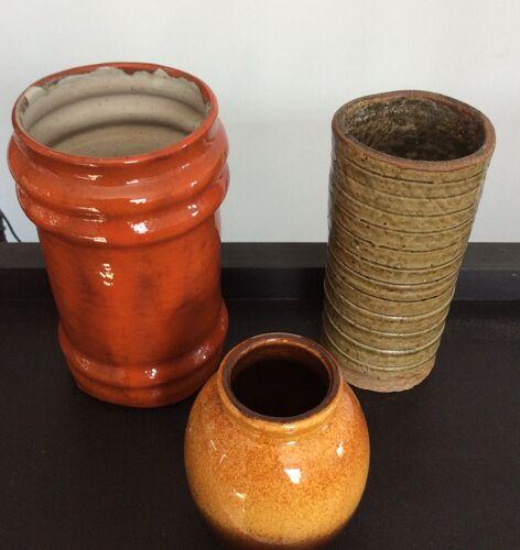 Série de 3 vases vintage des années 60/70