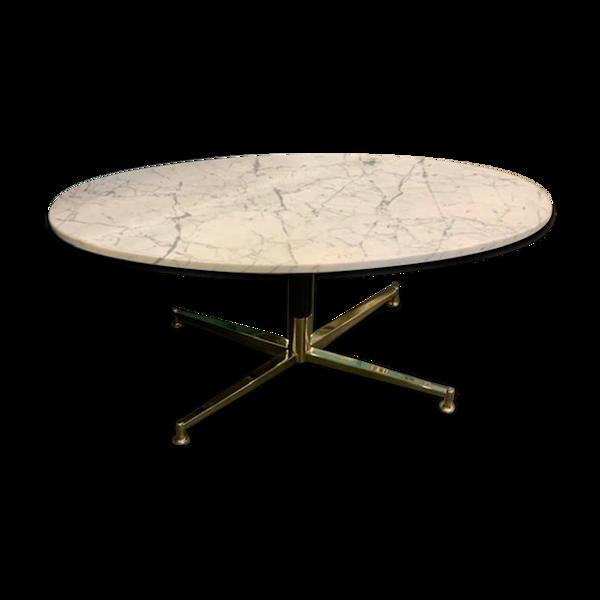 Table basse ovale en marbre