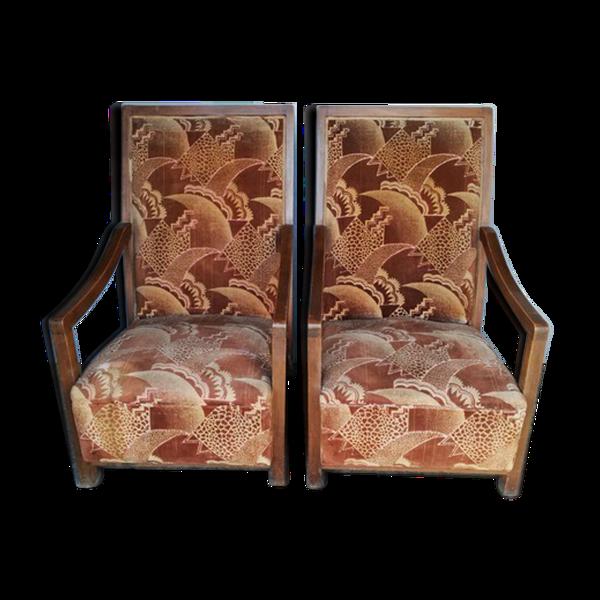 Paire de fauteuils epoque art deco 1930/40