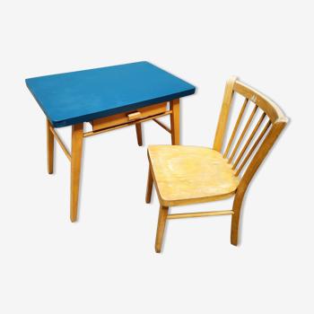 Bureau et chaise enfant Baumann 50's