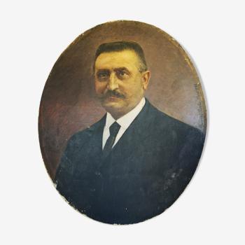 Portrait man, oil on canvas, 1922