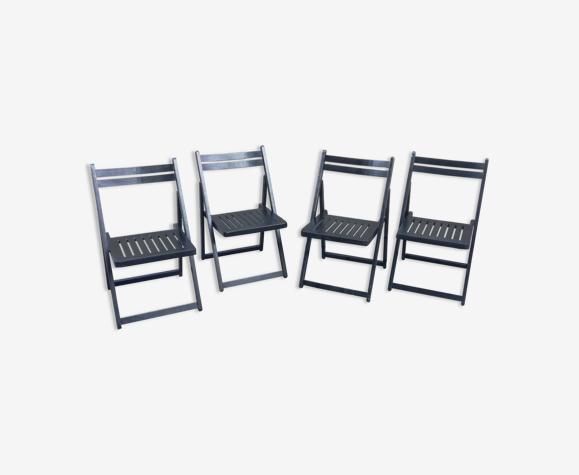 Set de 4 chaises pliantes en bois