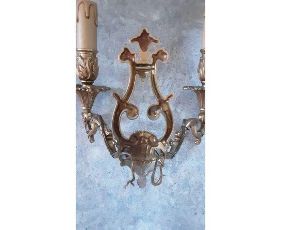 Paire d'appliques en bronze doré- année 60
