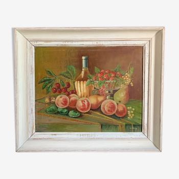 Peinture nature morte aux fruits