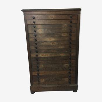 Meuble industriel à tiroirs vintage
