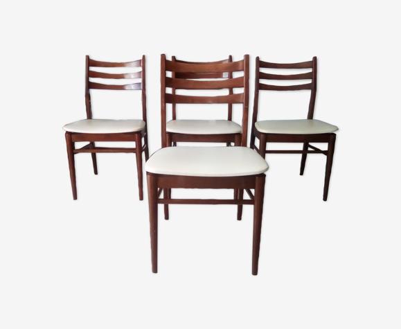 Lot de chaises scandinaves années 60
