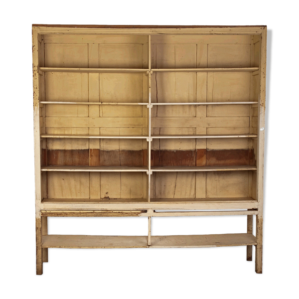 Ancien meuble de commerce, étagères et bibliothèque, vers 1940