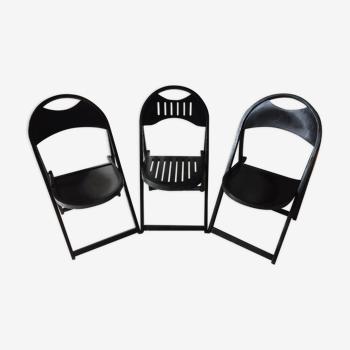 Série de 3 chaises pliantes Thonet modèle 751
