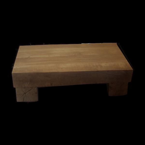 Table basse poutre vieux chêne
