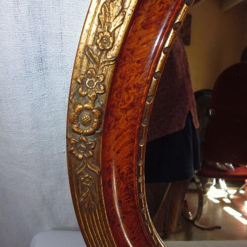 Miroir ovale art déco avec dorure 50.5x40.5 cm 2