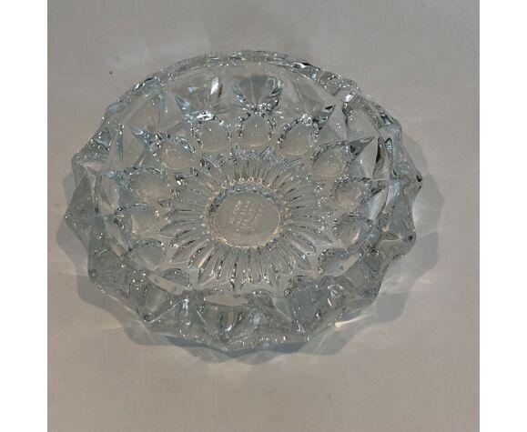 Cendrier en crystal années 70