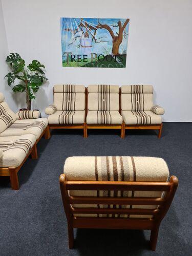 Set de salon vintage des années 70 en teck 6 pièces