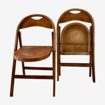"""Chaise """"B751"""" vintage pliante Bauhaus par Thonet 1930"""