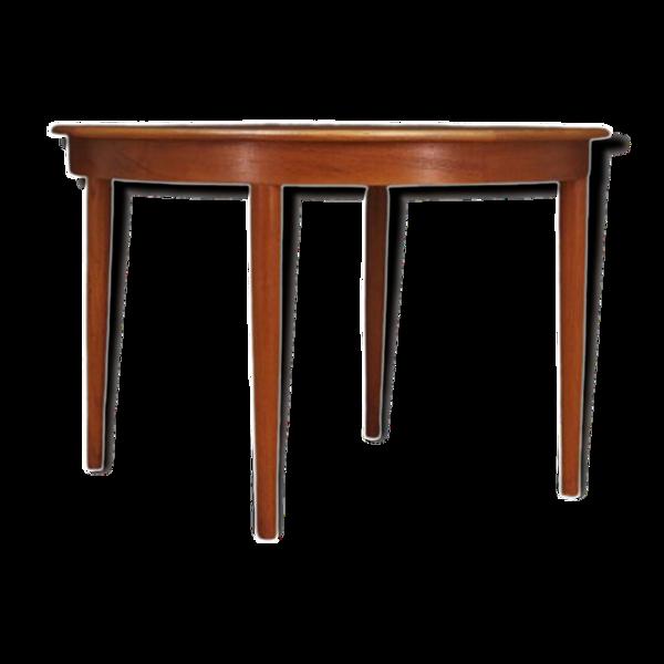 Table ronde en teck, design danois, années 1960, production: Danemark