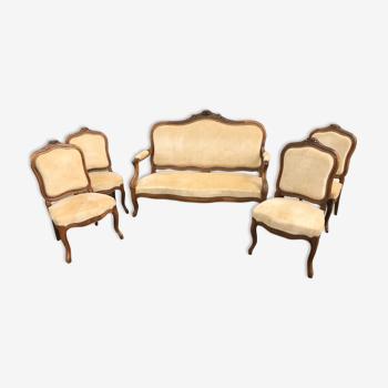 Salon complet Canapé + chaises