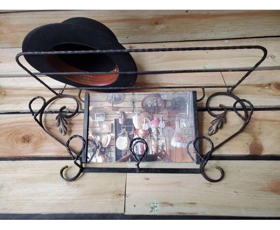 Wrought iron coat rack