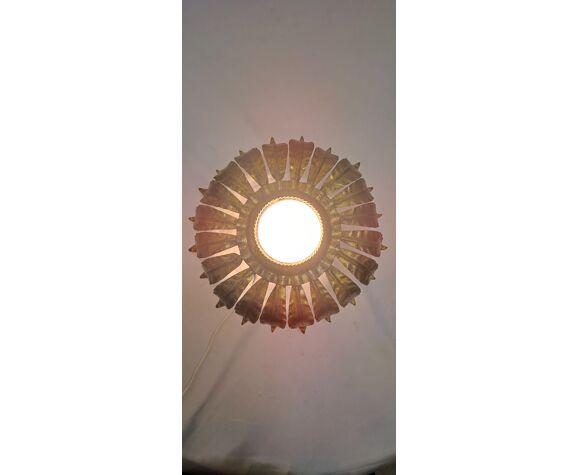 Plafonnier soleil Espagne 1970