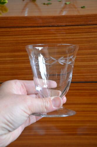 Lot de 6 verres à eau motif branche stylisée