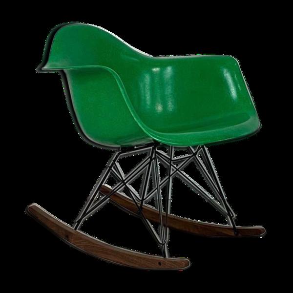 Selency Rocking-chair vintage Eames Herman pour Miller RAR en vert Kelly