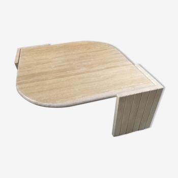 Table basse en travertin Roche Bobois