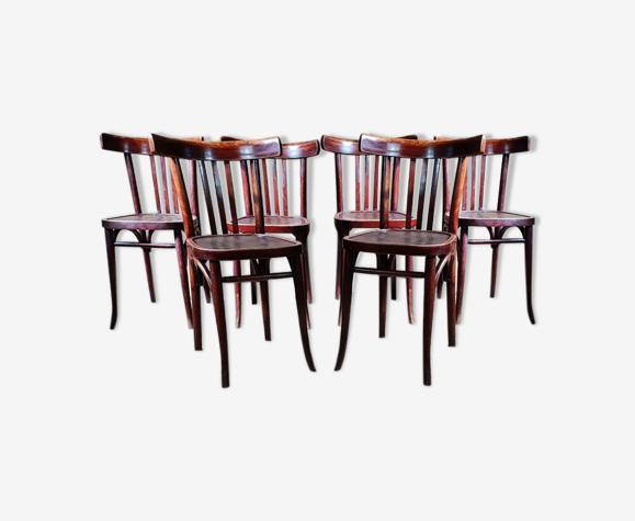 Lot 6 chaises bistrot art déco années 30