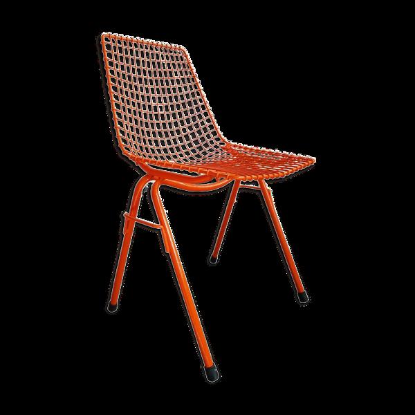 Chaise en acier par Henryk Sztaba pour PSS Spolem 1970s