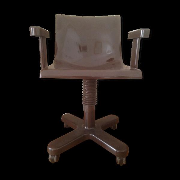 Selency Chaise marron en métal et en plastique par Ettore Sottsass pour Olivetti Synthesis