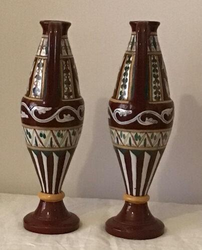 Paire de vase amphores Nabeul orientaux Tunisie
