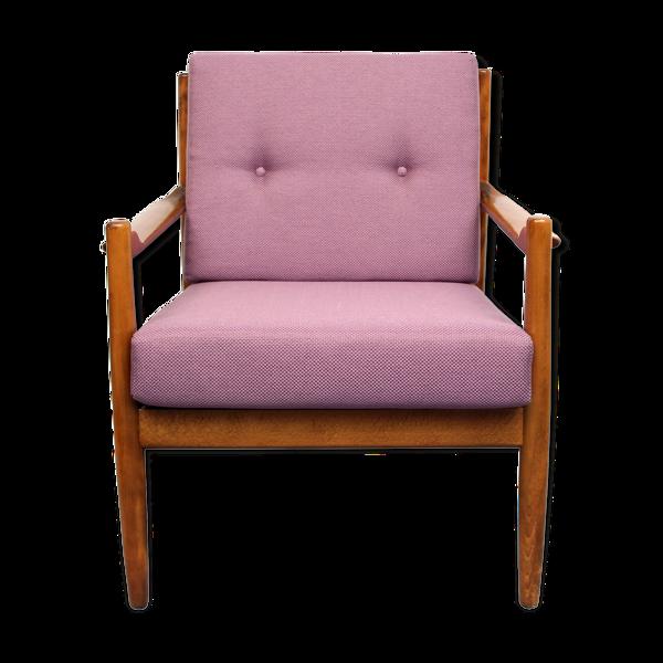 Fauteuil des années 1960 couleurse lilas