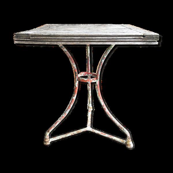 Ancienne table de bistrot patinée