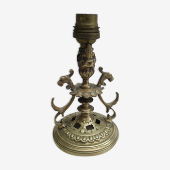 Pied de lampe en bronze