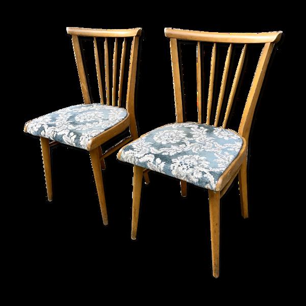 Paire de chaises des années 50 - 60 vintage - style scandinave