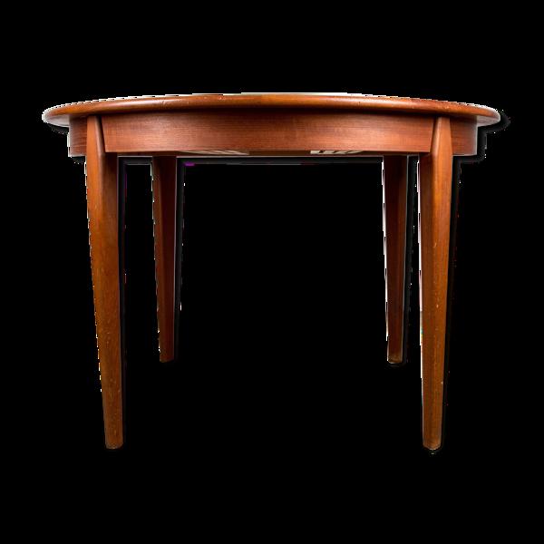 Selency Table de repas extensible danoise en teck par H.Sigh & Sons Mobelfabrik 1960.