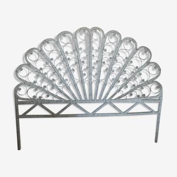 Tête de lit en rotin style peacock