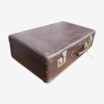 Valise brune 65 cm deco