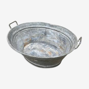 Bassine vintage en zinc 70 litres