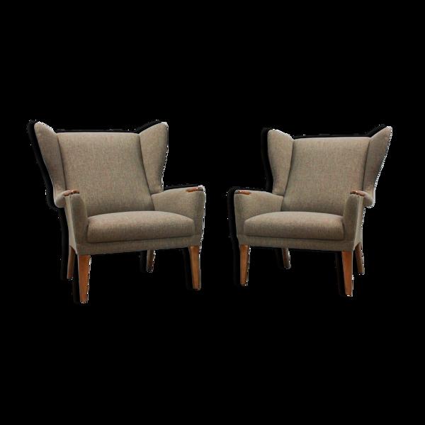 Ensemble de 2 fauteuils wingback vintage de parker knoll, royaume-uni des années 1960