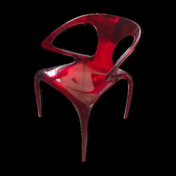 Chaise ava roche bobois rouge