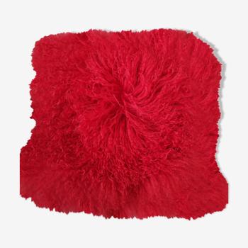 Housse de coussin en laine de mouton