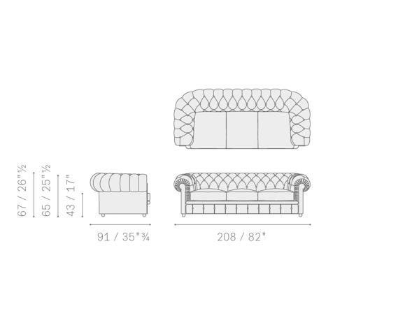 Sofa Frau Chesterfield