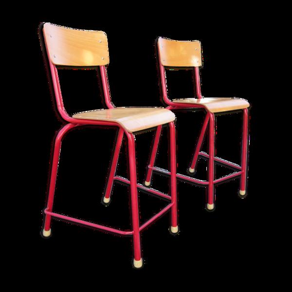 Paire de chaises atelier bar