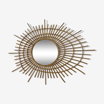 Ortf sun mirror rattan 85x64cm