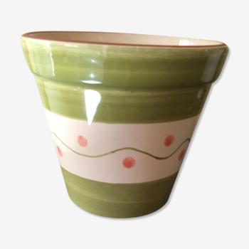 Cache pot en céramique colorée