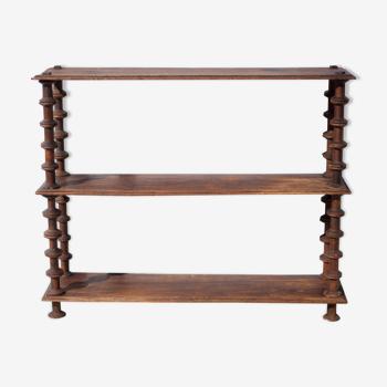 Antique wood shelf, shelf to install Napoleon III style coil shelf, wooden furniture