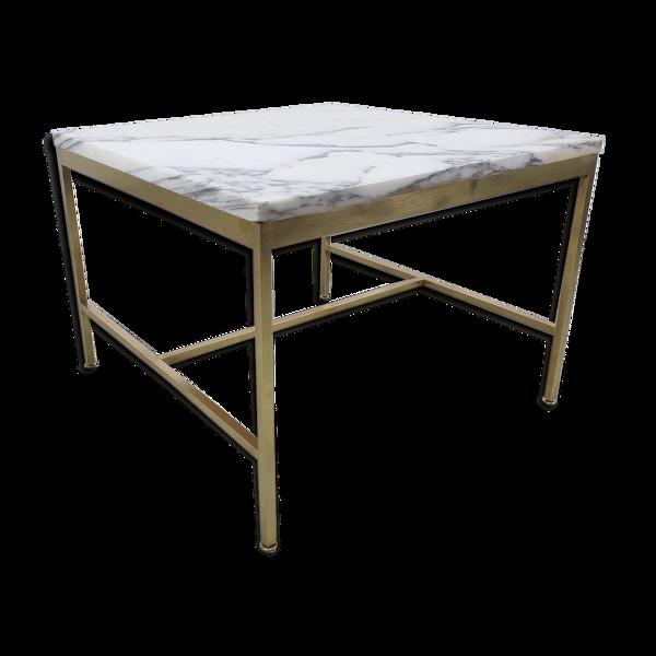 Table basse design Paul McCobb modèle 1093 marbre années 60